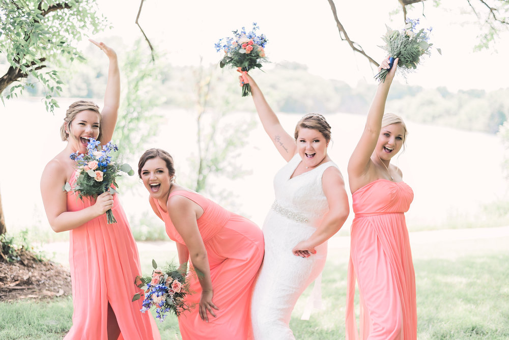 bridesmaids silly pose