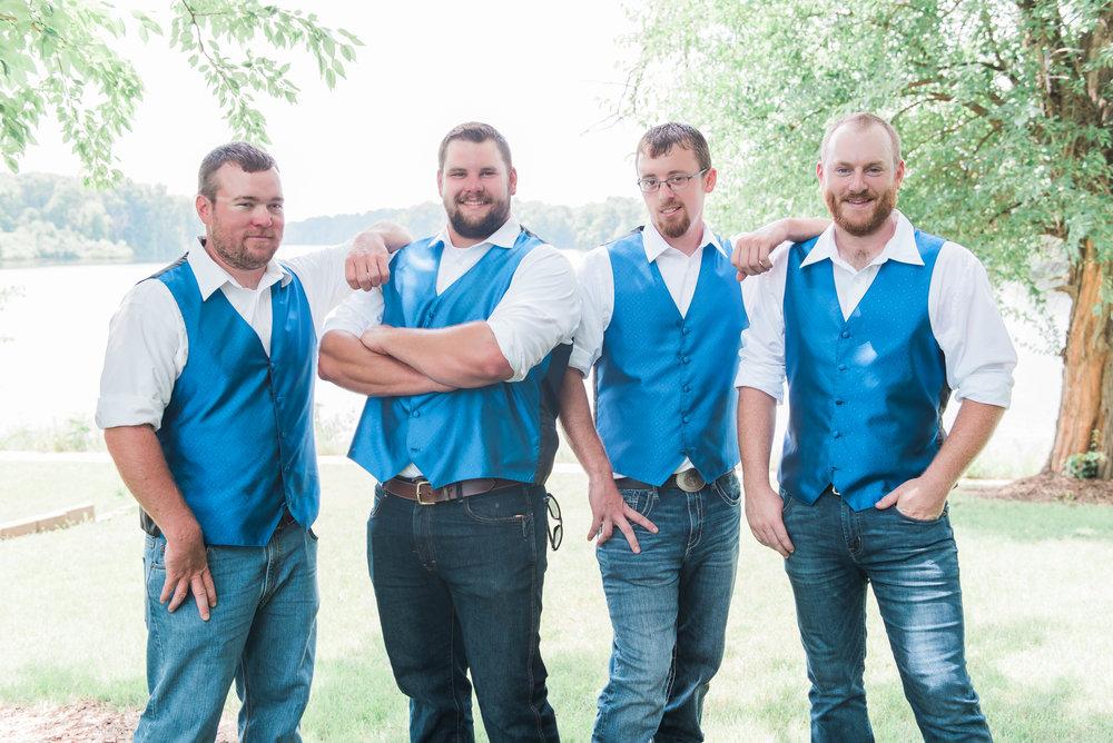 groomsmen casual pose