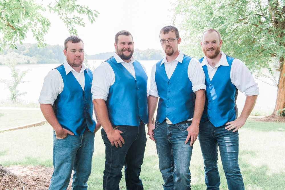 groomsmen in jeans