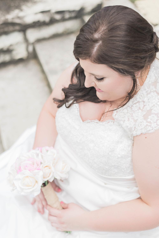 bride gazing down