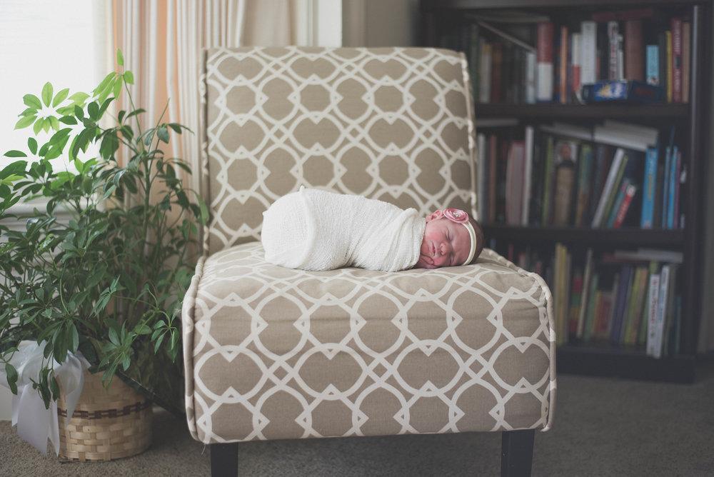 lifestyle newborn baby on chair
