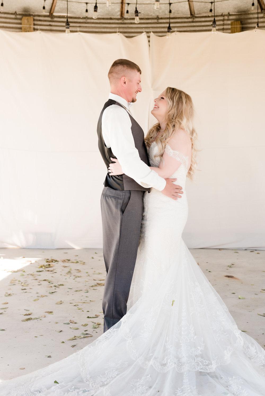 bride & groom laughter