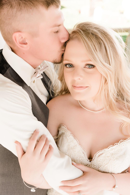 bride looking at camera