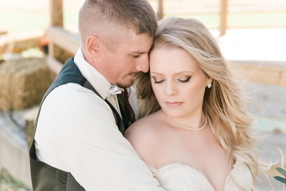 bride & groom serious