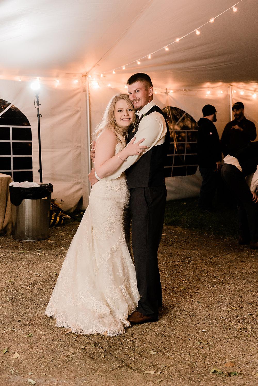 bride & groom first dance reception