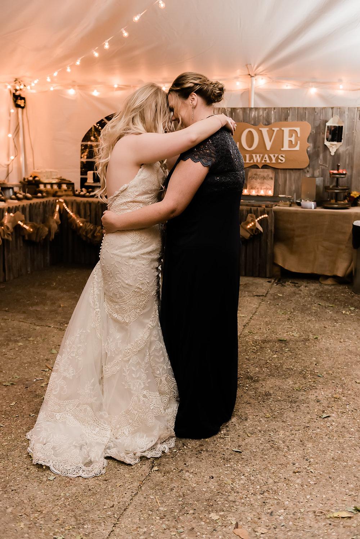mother of bride hugs