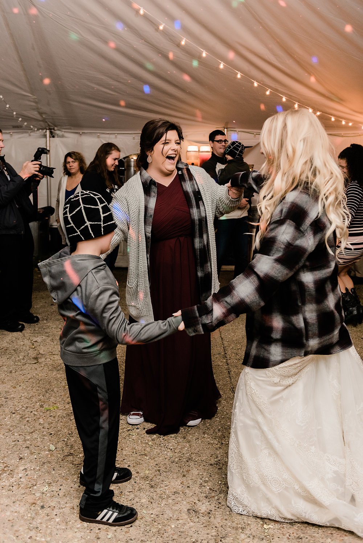 bride circle dancing