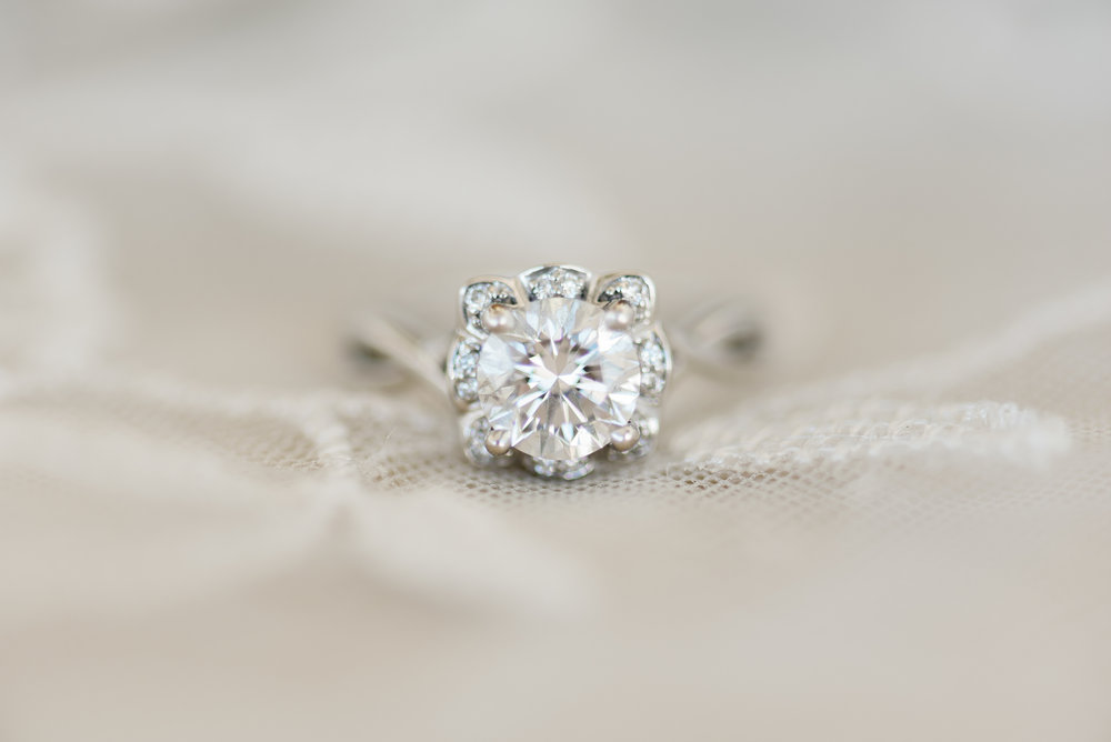 bride wedding ring close up