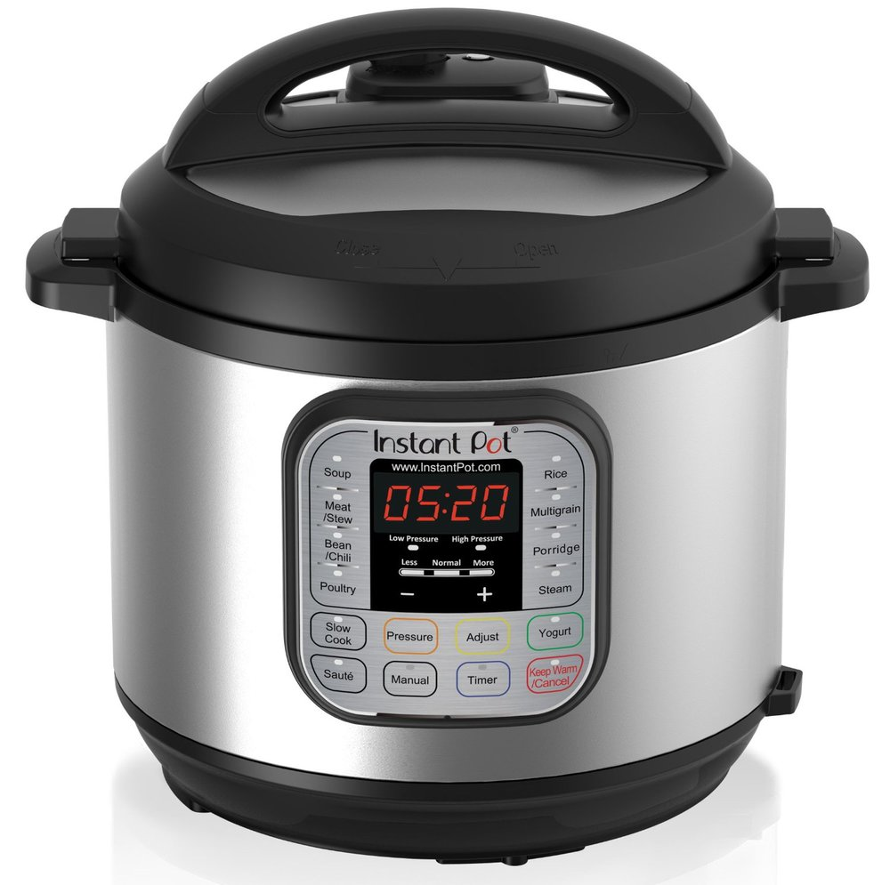 Instant Pot 6QT, 7-in-1 Programmable Pressure Cooker and Slow Cooker with Stainless Steel Cooking Pot and Exterior