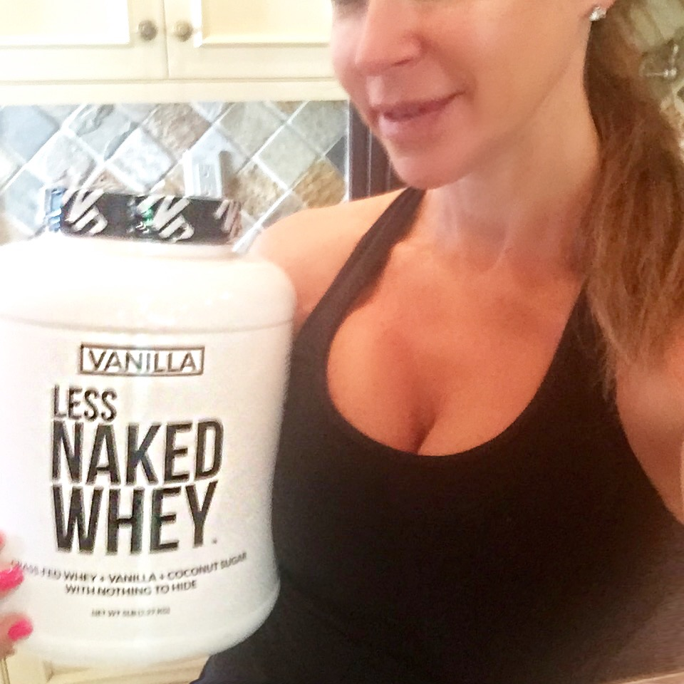2. Naked's Protein powders   are simply the best and most natural protein powder I've found. The vanilla contains only 3 ingredients:100% Grass Fed Pure Whey Protein, Vanilla and Organic Coconut Sugar. It is non-denatured, cold processed and absolutely delicious.