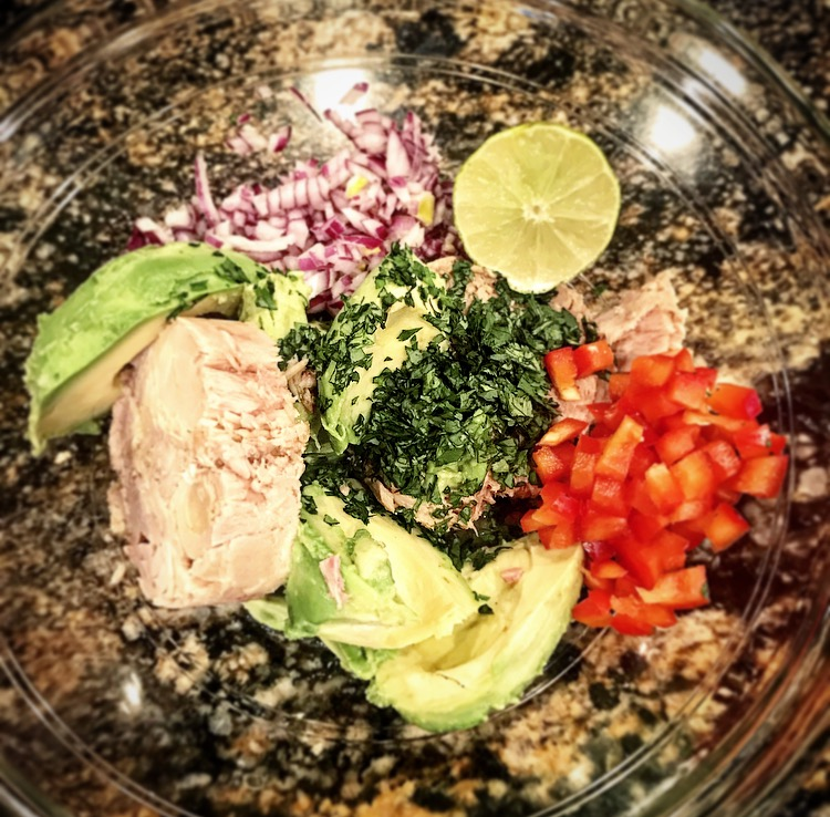 Tuna stuffed avocado bomb recipe - newtritionny.comnewtrition new you