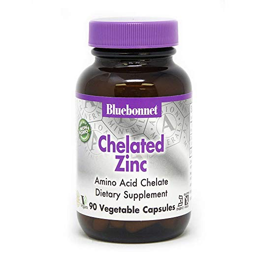 BLUEBONNET Chelated Zinc - Incredibly effective at helping prevent the cold and flu if taken at the first sign of a sore throat.