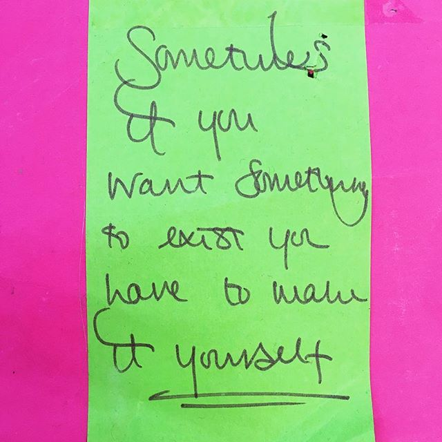 Less of dream doorways, more of forgotten dreams. A year ago @rachgornall wrote this post-it for me, it's a little worse for wear but has been a talisman carried inside my diary ever since. Remember it takes time, and patience to action those dreams. Riff on 'be the change you want to see.' Happy bank holiday weekend 💕