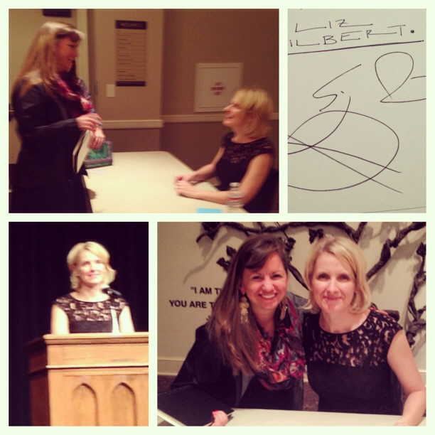 Loved getting to meet Elizabeth Gilbert at her book talk in Dallas, TX.