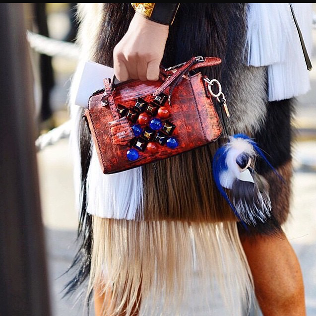 Blue Karlito on Fendi Red