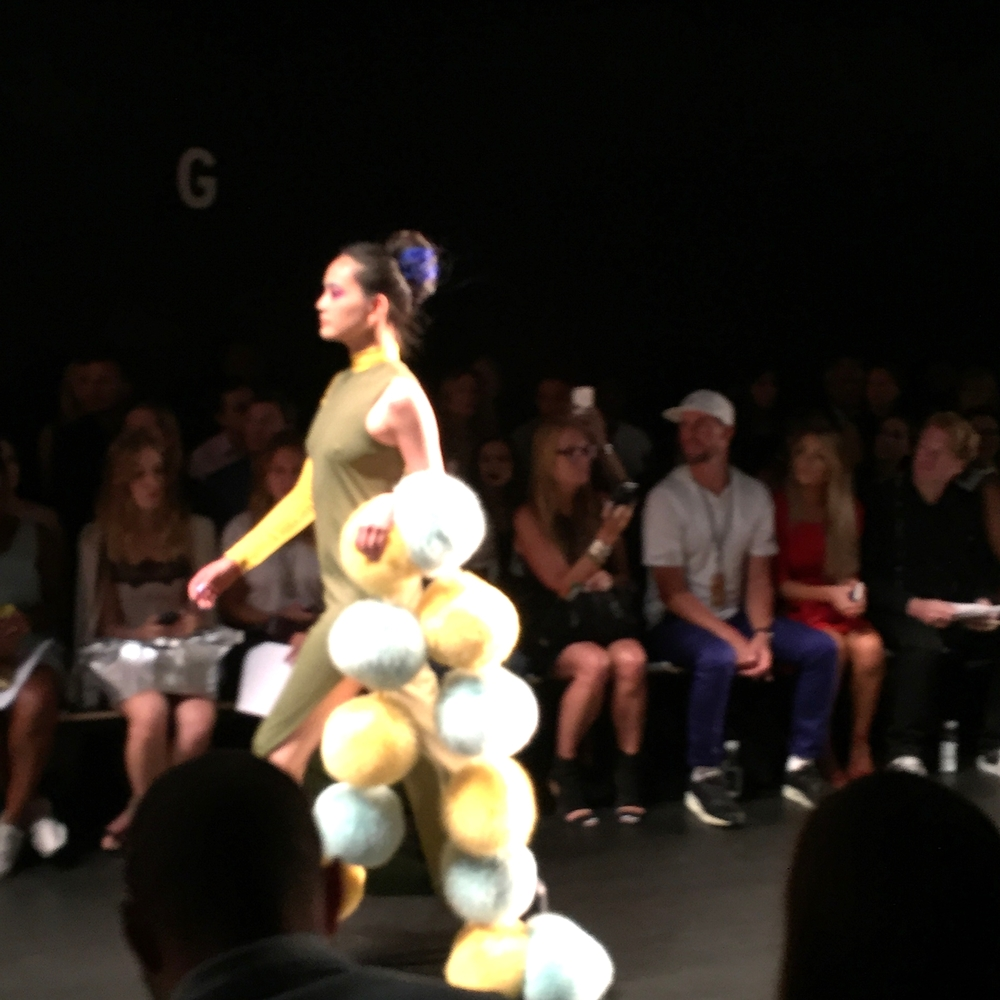 Pom-Poms at Georgine s/s 16 NYFW