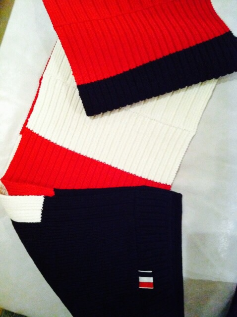Red white and blue Thom Browne