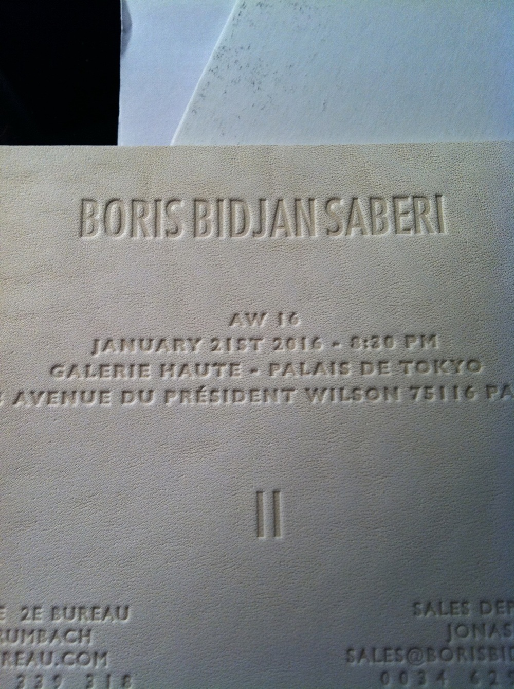 Invite on leather
