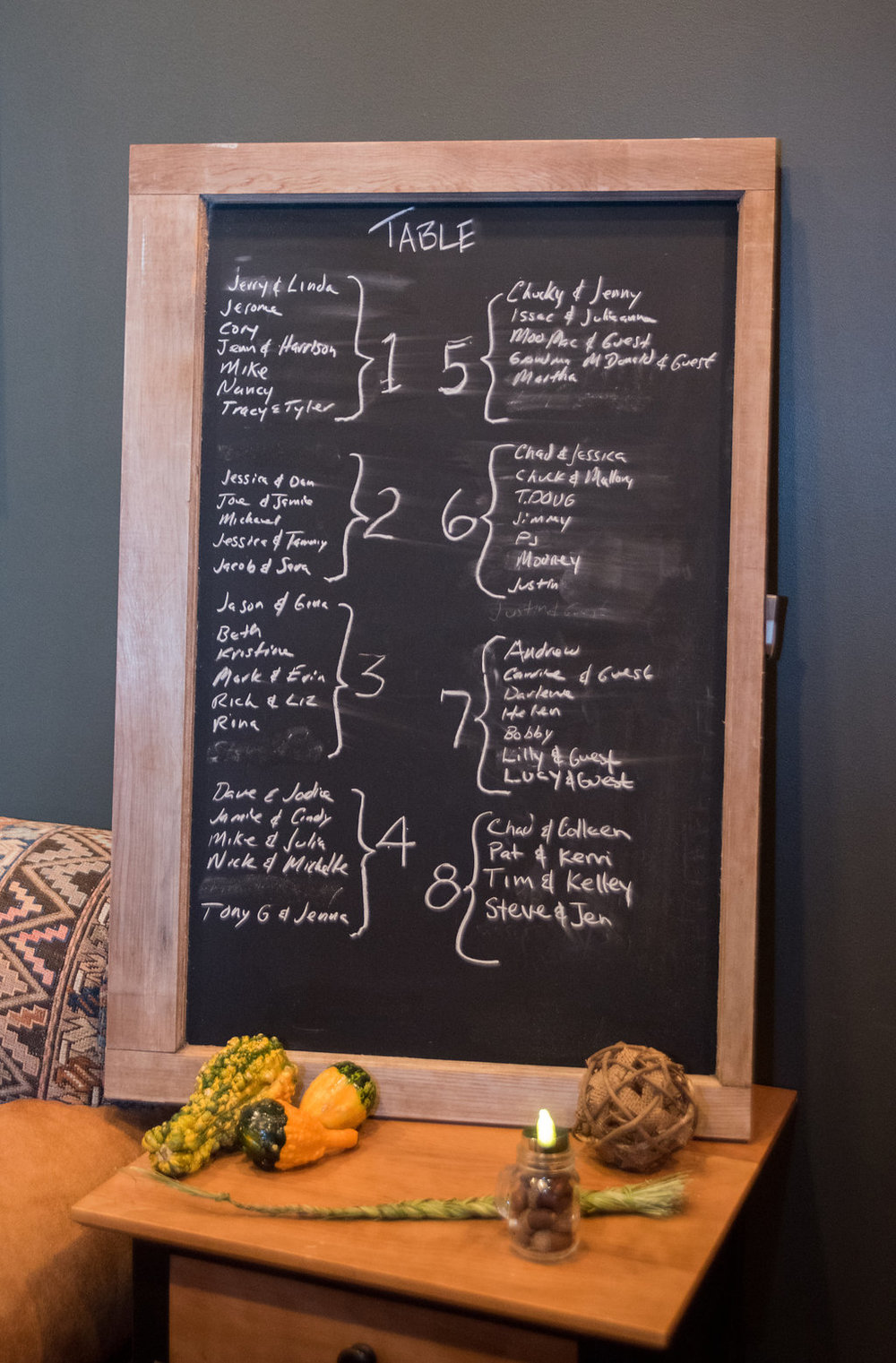 seating-chart-chalk-board-cute-golden-arrow-lakeside-resort-lake-placid-ny-wedding-ym-photography