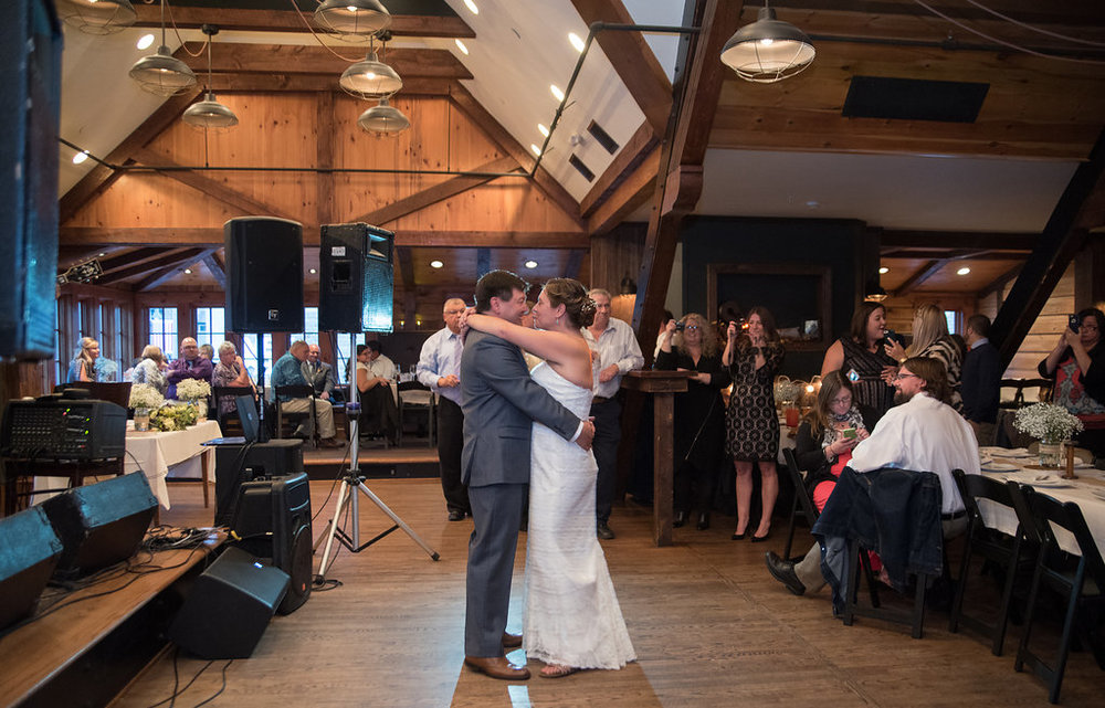 first-dance-b&w-golden-arrow-lakeside-resort-lake-placid-ny-wedding-ym-photography