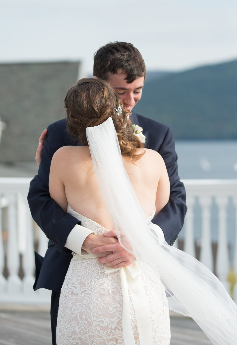 first-look-sweet-embrace-sagamore-resort-lake-george-ny-wedding-ym-photography