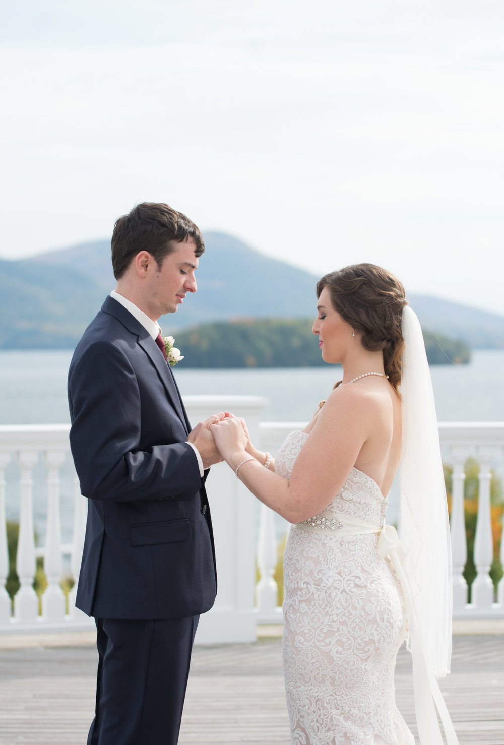 first-look-holding-hands-sagamore-resort-lake-george-ny-wedding-ym-photography