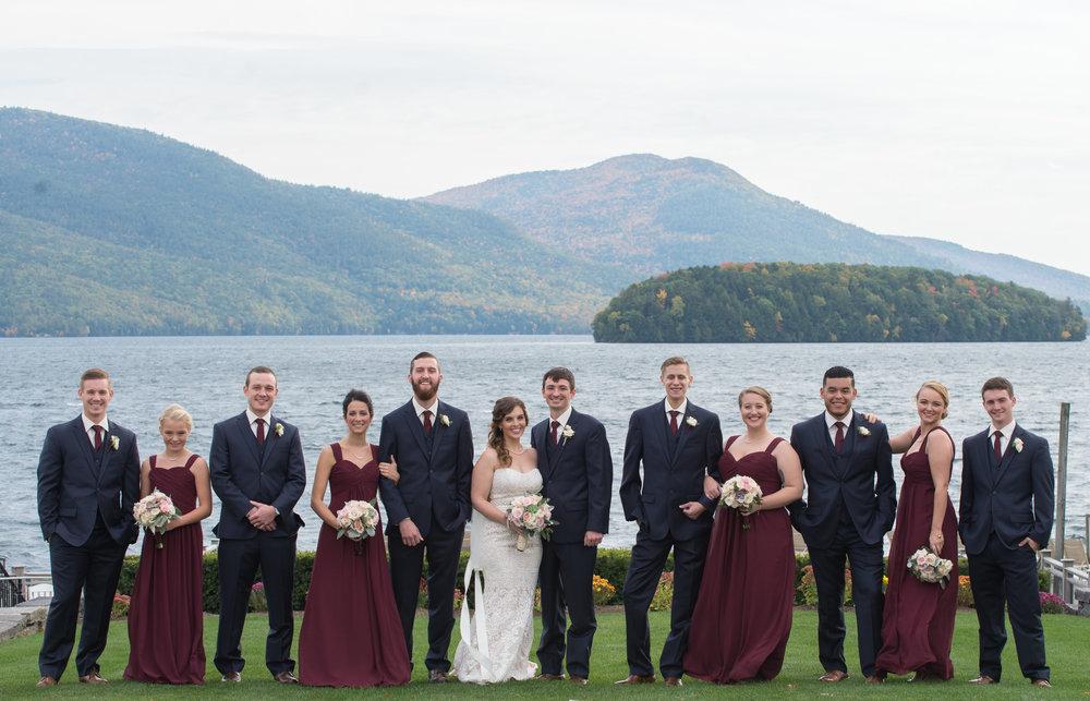 bridal-party-lake-sagamore-resort-lake-george-ny-wedding-ym-photography