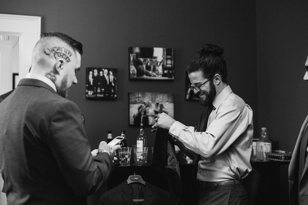 cheers-pre-wedding-groomsmen-portrait-old-daley-on-crooked-lake-ny-wedding-ym-photography