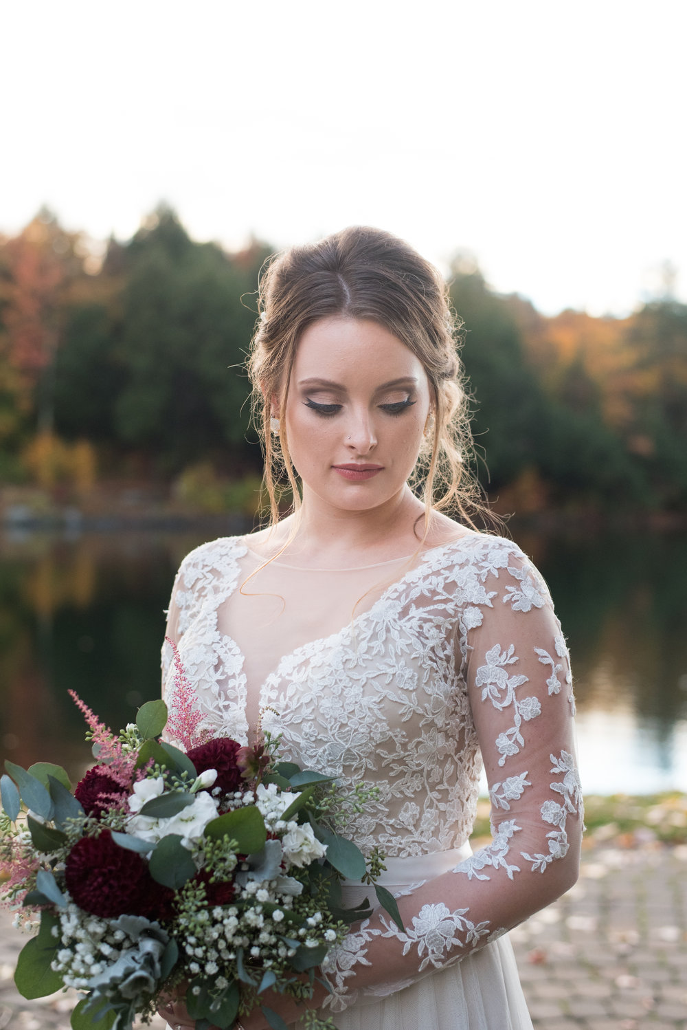 bride-closeup-old-daley-on-crooked-lake-albany-ny-wedding-ym-photography