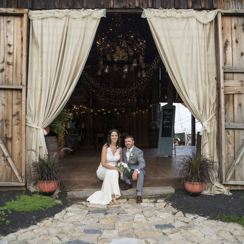 MELISSA HEARTS WEDDING BURLAP AND BEAMS BARN WEDDING YM PHOTOGRAPHY ADIRONDACK
