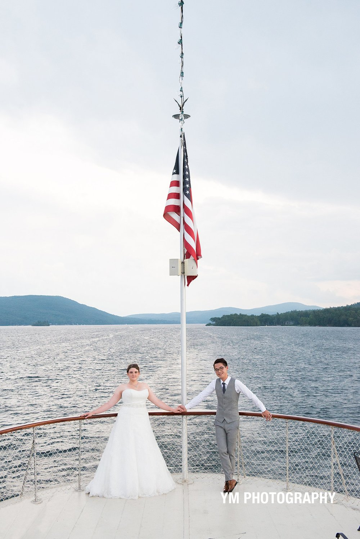 Lake George Steamboat Wedding Adirondac YM Photography