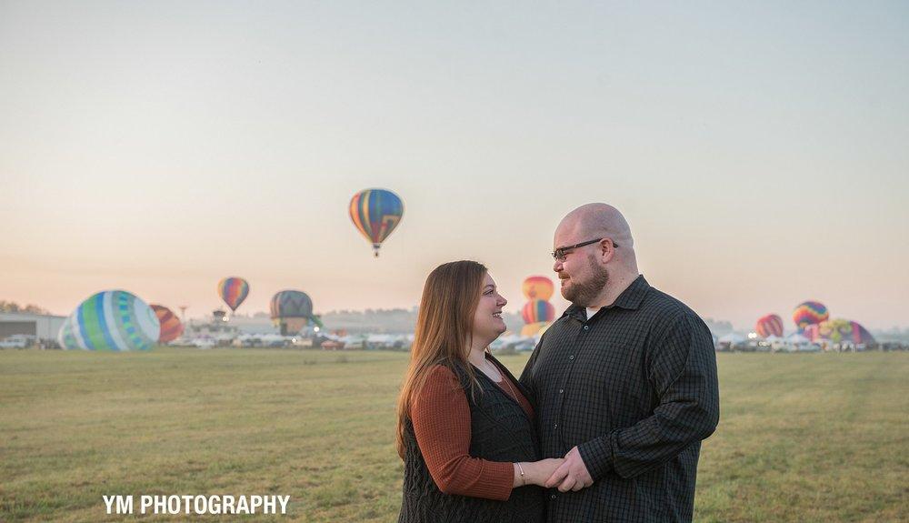 Adirondack Balloon Festival Engagement Session YM Photography