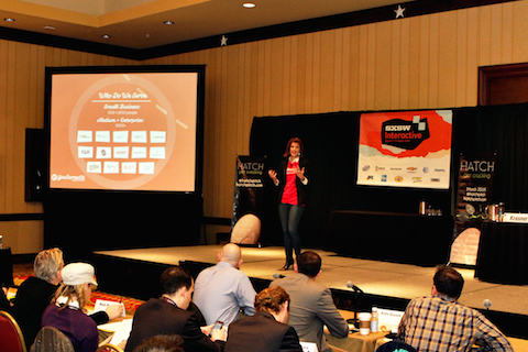 YouEarnedIt  CEO, Autumn Manning, presenting at HATCH pitch SXSW 2014.