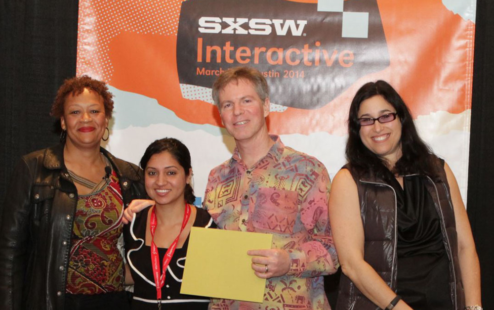 Seratis  Co-founder and CEO, Divya Dhar winning 1st place in 2014 at SXSW.