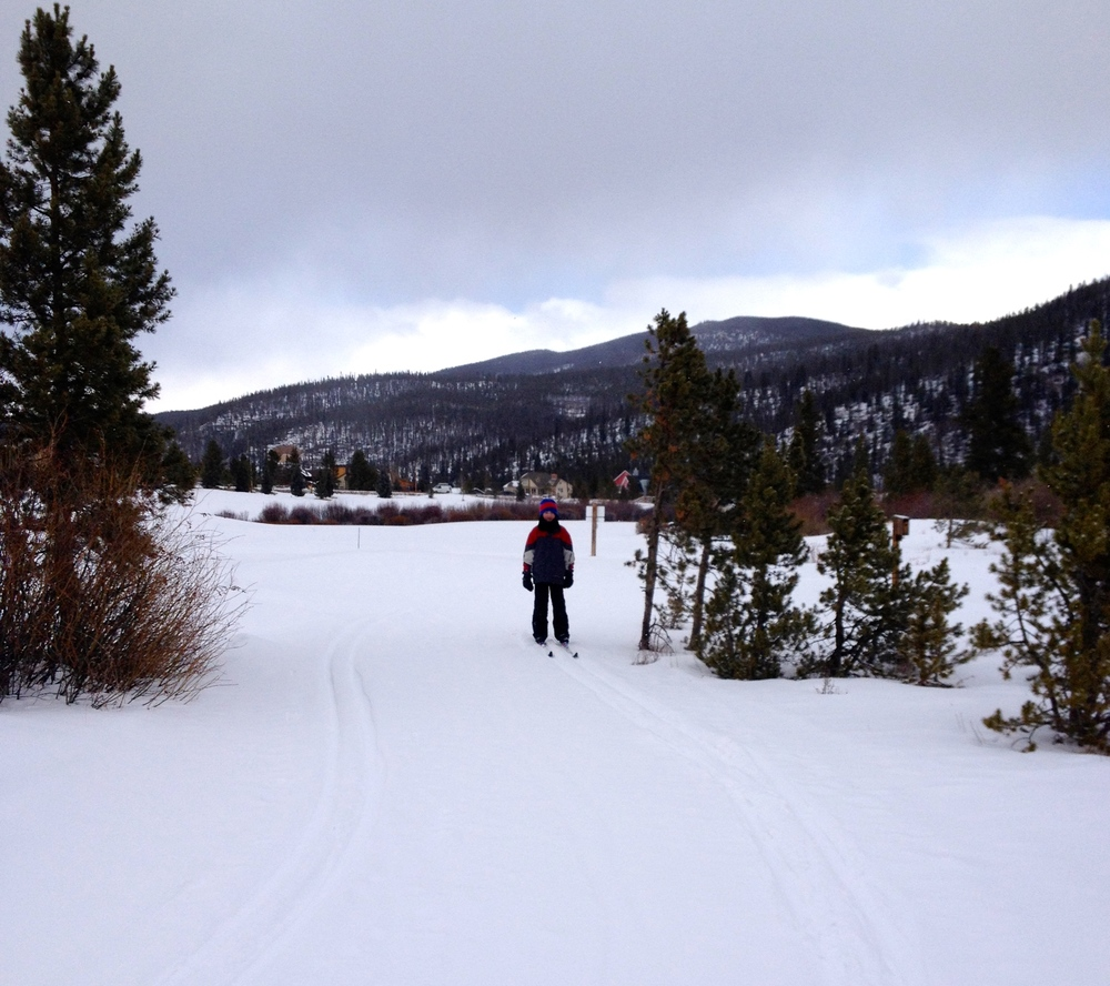 Cross country skiing at Frisco Adventure Park