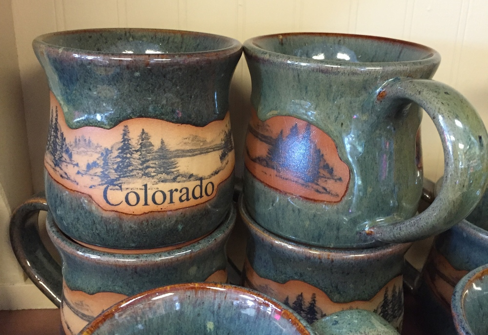 A popular gift choice, Always Azul pottery is made here in Colorado.