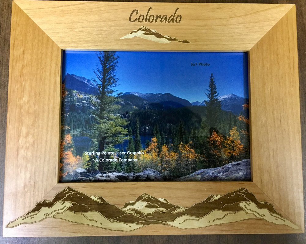 We carry several wooden frames made in Larkspur, Colorado.