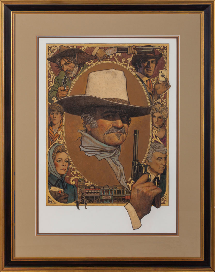 "Richard Amsel Original Art for ""The Shootist"" Movie Poster"