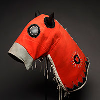 1890s Nez Perce / Yakima Horse Mask Sold $47,200 2014 Old West Auction