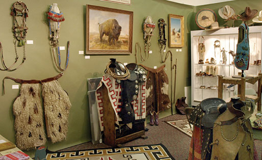 Great old cowboy gear. One of our favorite booth photos.