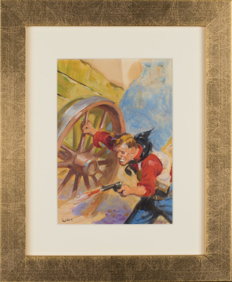 Lot 79 - Richard Lillis Untitled: Gunfight Sold $188