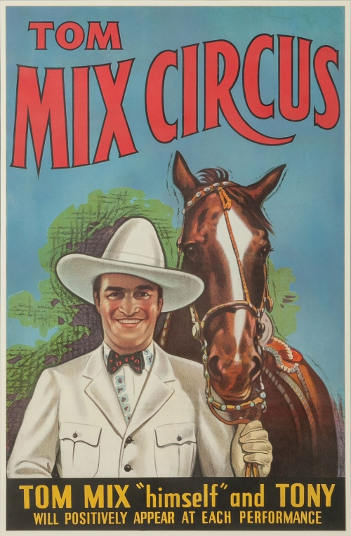 Tom Mix original lithograph poster.
