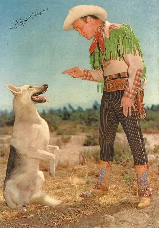 Roy Rogers' Nudie's suit  (from the Estate of Snuff Garrett),  shown in this publicity shot, sold for more than twice its low estimate, bringing $12,260.