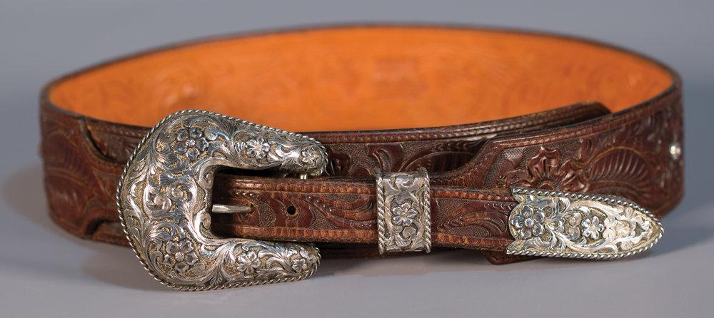 Lot 80:Edward H. Bohlin Buckle Set with Ladies Belt, Est. $4,500-5,500 EX: Harry Hudson Collection.