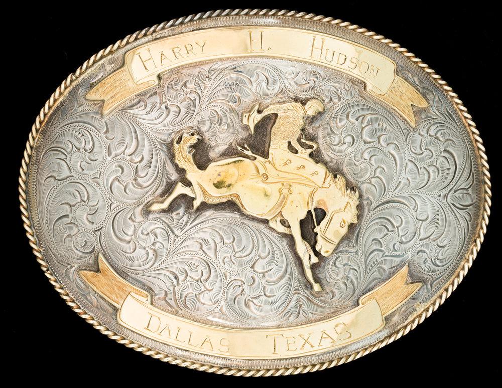 Lot 90:Edward H. Bohlin Bronc Rider Trophy Buckle, est. $8,000-10,000 EX: Harry Hudson Collection