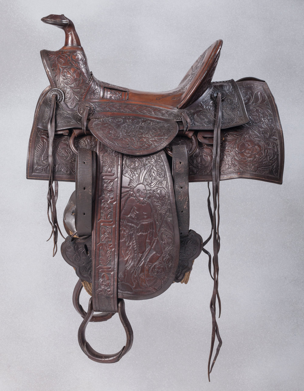 Moran Bros. Territorial Exhibition saddle