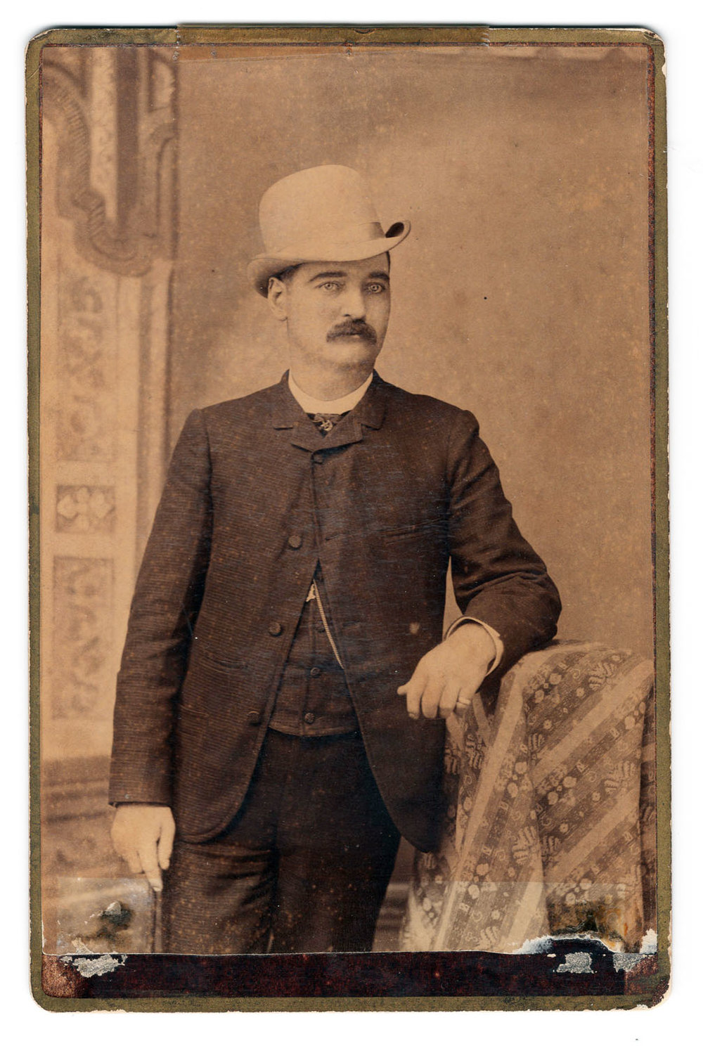 Bat Masterson Cabinet Card - Lot 202