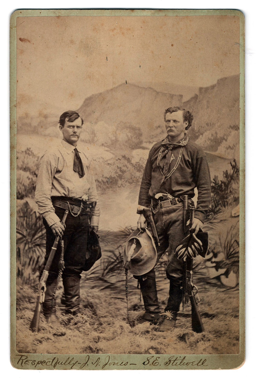 Jimmy Jones & Jack Stilwell Cabinet Card - Lot 31