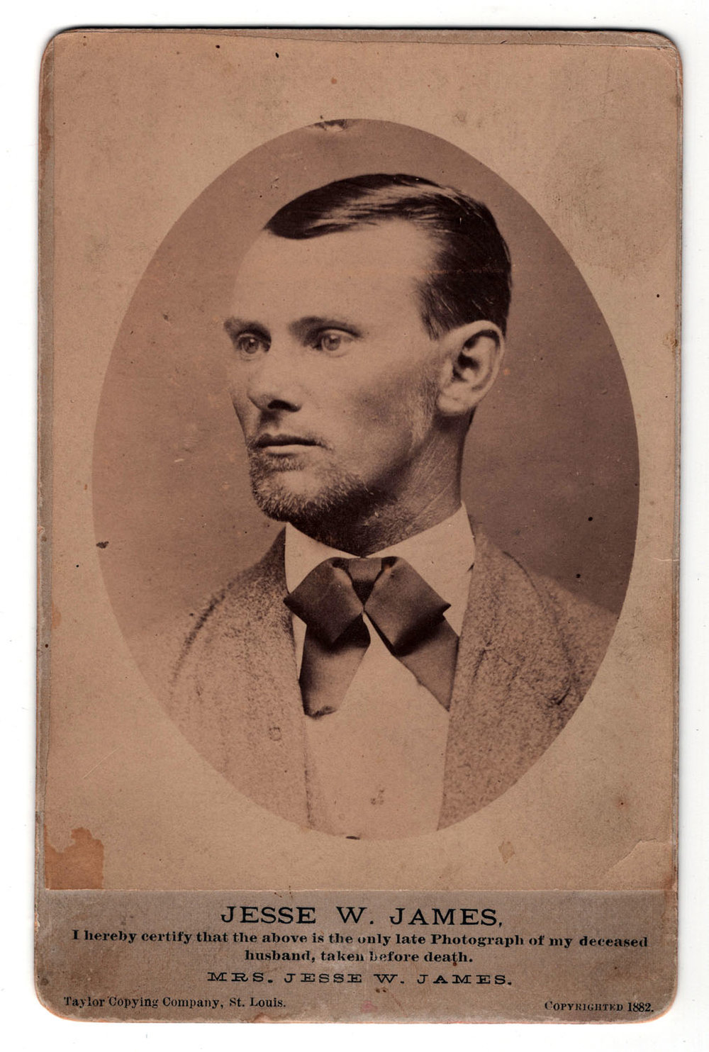 Jesse James Cabinet Card - Lot 341