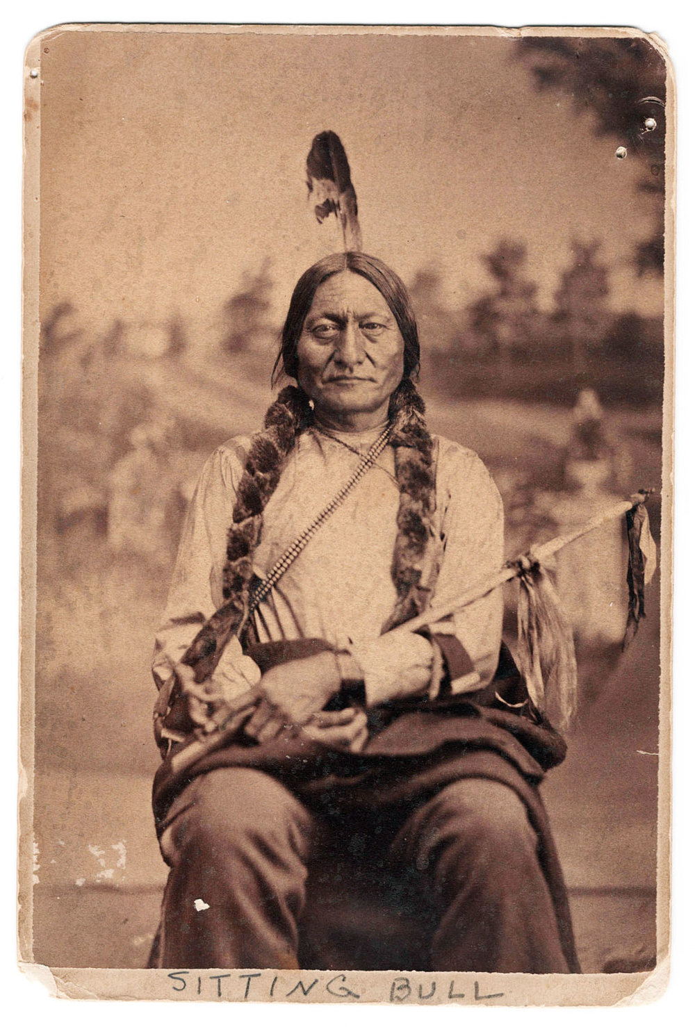 Sitting Bull Cabinet Card - Lot 106